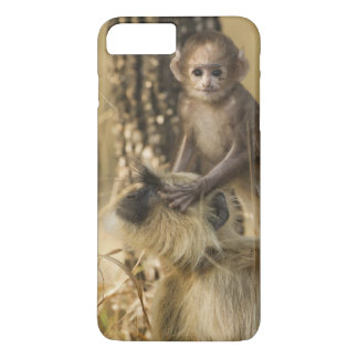 Hanuman Langur adult with young iPhone 8 Plus/7 Plus Case