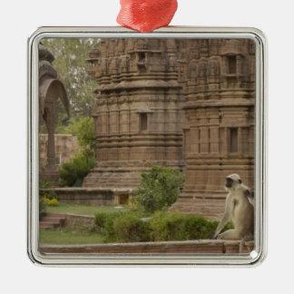 Hanuman Langurs or Black-faced Common or Grey Christmas Tree Ornaments