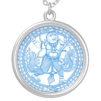 Hanuman Monkey God Silver Plated Necklace