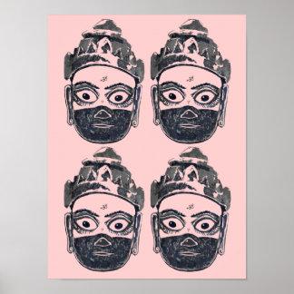 Hanuman Pop Art Poster