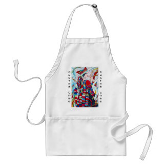 Hao Ping Crane Dance abstract lady painting Standard Apron