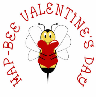 Hap-bee Valentine's Day Ornament Acrylic Cut Outs