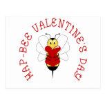 Hap-bee Valentine's Day Postcard