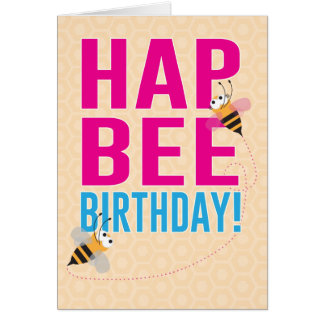 HapBEE Birthday (Happy Birthday) Card