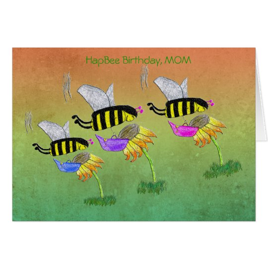 HapBee Birthday, MOM Card