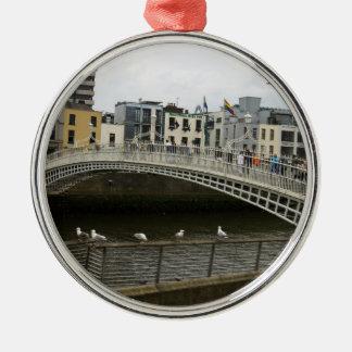 Hapenny Bridge Dublin Christmas Ornament