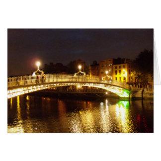Ha'penny Bridge Greeting Card