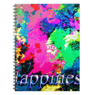Hapiness Design Spiral Note Book