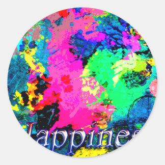 Hapiness Design Round Sticker