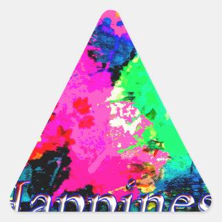 Hapiness Design Triangle Sticker