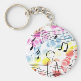 Hapiness in 4/4 Keychain