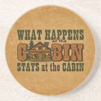 Happens At The Cabin Coaster