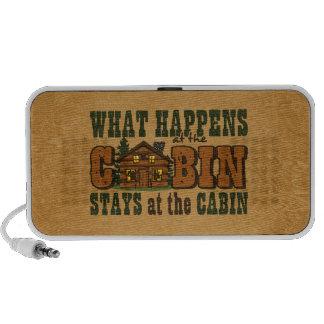 Happens At The Cabin Doodle Speaker System