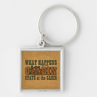 Happens At The Cabin Keychain