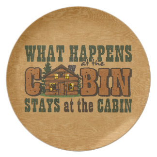 Happens At The Cabin Plate