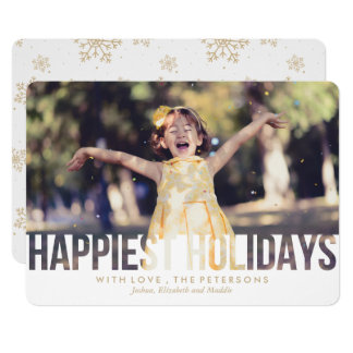 Happiest Holidays Christmas Greeting Card