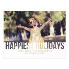 Happiest Holidays Christmas Greeting Postcard