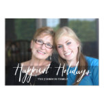 Happiest Holidays Modern Full Photo - White Type 13 Cm X 18 Cm Invitation Card