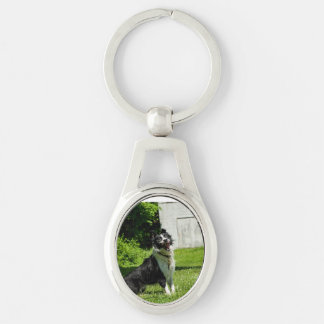 Happiest Key Chain Around Silver-Colored Oval Key Ring