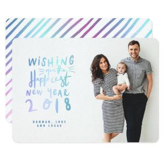 HAPPIEST NEW YEAR (FULL BLEED PHOTO) UNICORN CARD