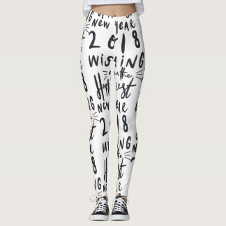 HAPPIEST NEW YEAR LEGGINGS
