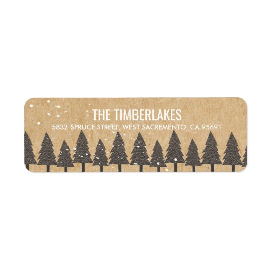 Happiest of Holidays | Christmas Winter Scene Return Address Label