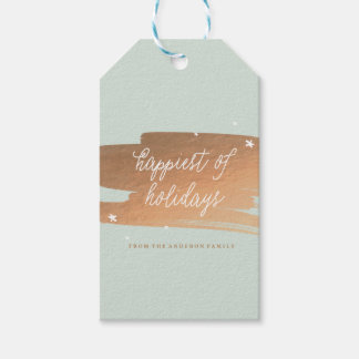 HAPPIEST OF HOLIDAYS holiday christmas Gift Tags
