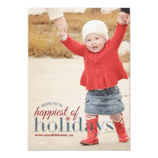 Happiest of Holidays | Holiday Photo Greeting Card