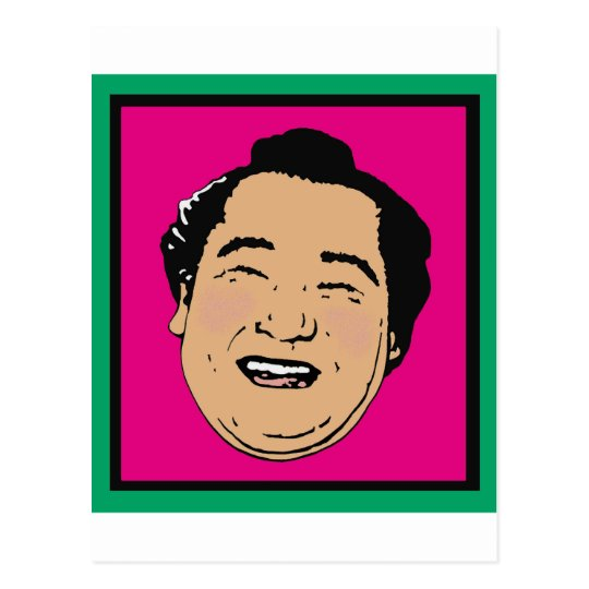 Happiest Sumo In The World Postcard