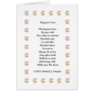 Happiest Tears (For Husband) Greeting Card