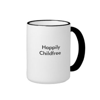 Happily Childfree Ringer Coffee Mug