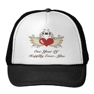 Happily Ever After 1st Wedding Anniversary Hat