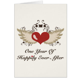 Happily Ever After 1st Year Anniversary Card