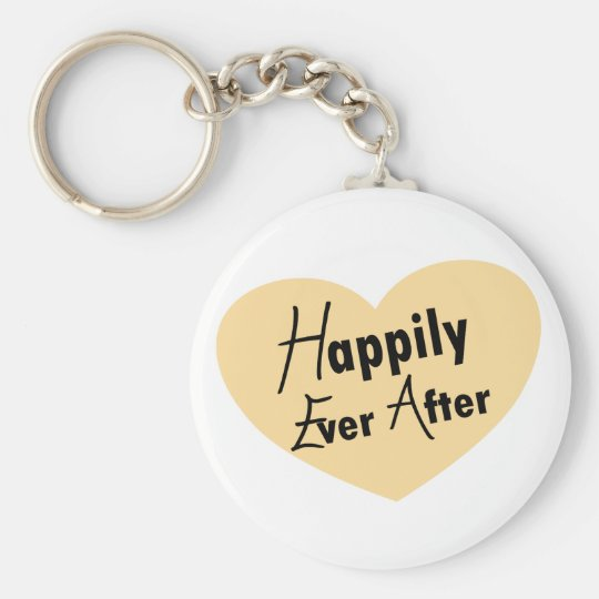 Happily Ever After Basic Round Button Key Ring