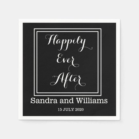 'Happily Ever After'-Black And White Personalised