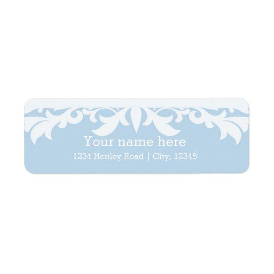 Happily Ever After Blue Address Sticker Label