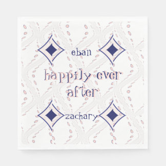Happily Ever After Bridal Shower Paper Serviettes