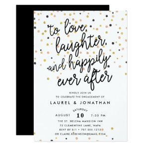 Happily Ever After   Engagement Party Invitation