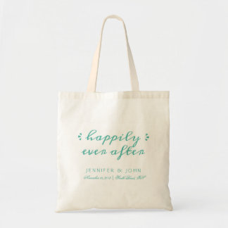 Happily Ever After Favor or Welcome Tote in Teal Bags