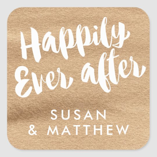 Happily Ever After, Favour Tag Mocha Watercolor