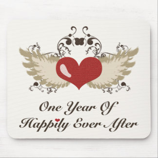 Happily Ever After First Anniversary Mousepad