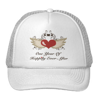 Happily Ever After First Wedding Anniversary Cap