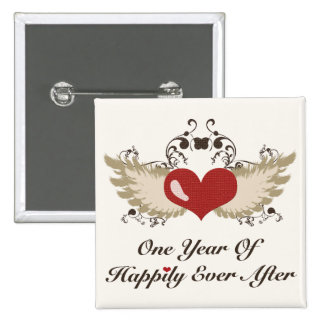 Happily Ever After First Wedding Anniversary Pin