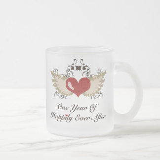 Happily Ever After First Year Anniversary Mug