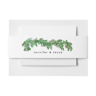 Happily Ever After Greenery Invitation Belly Band