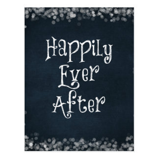 Happily Ever After Quote Postcard