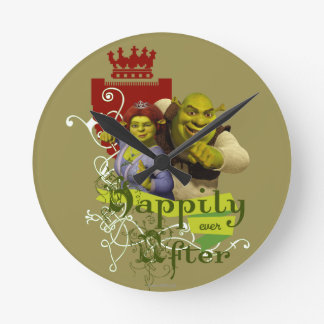 Happily Ever After Round Clock