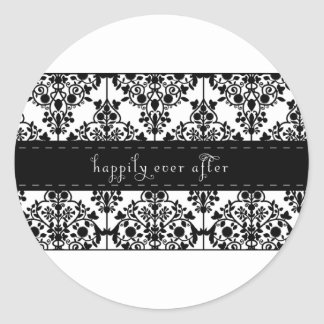 happily ever after round stickers