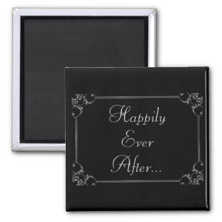 Happily Ever After Square Magnet