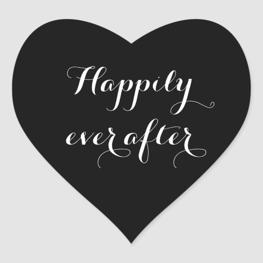 Happily Ever After Stickers Heart Shape